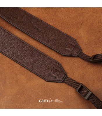 Wide Leather DSLR Camera Strap by Cam-in - Dark Brown
