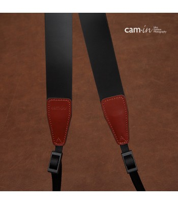 Black Leather DSLR Camera Strap by Cam-in