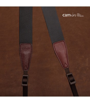 Dark Brown Leather DSLR Camera Strap by Cam-in