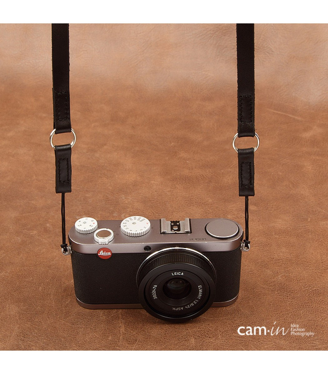 Leather camera strap with ring and string loop connection for Camera camera camera