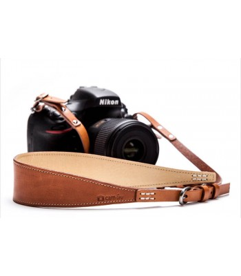 Tan Luxury Leather DSLR camera strap by Cam-in