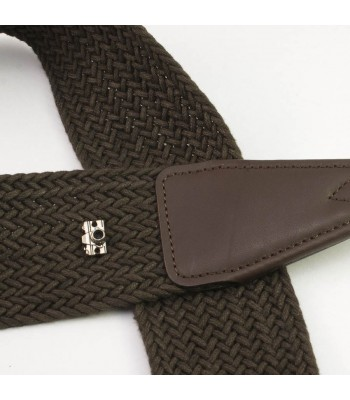 Wide woven cotton strap by Cam-in - Brown