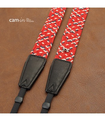 Woven cotton strap by Cam-in - Red/White/Navy Blue