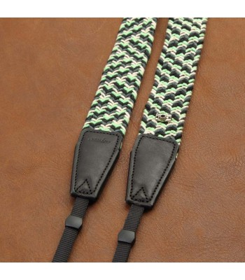 Woven cotton strap by Cam-in -  Black/Grey/White/Green