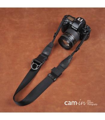 Black adjustable 'Ninja' Camera Strap by Cam-in