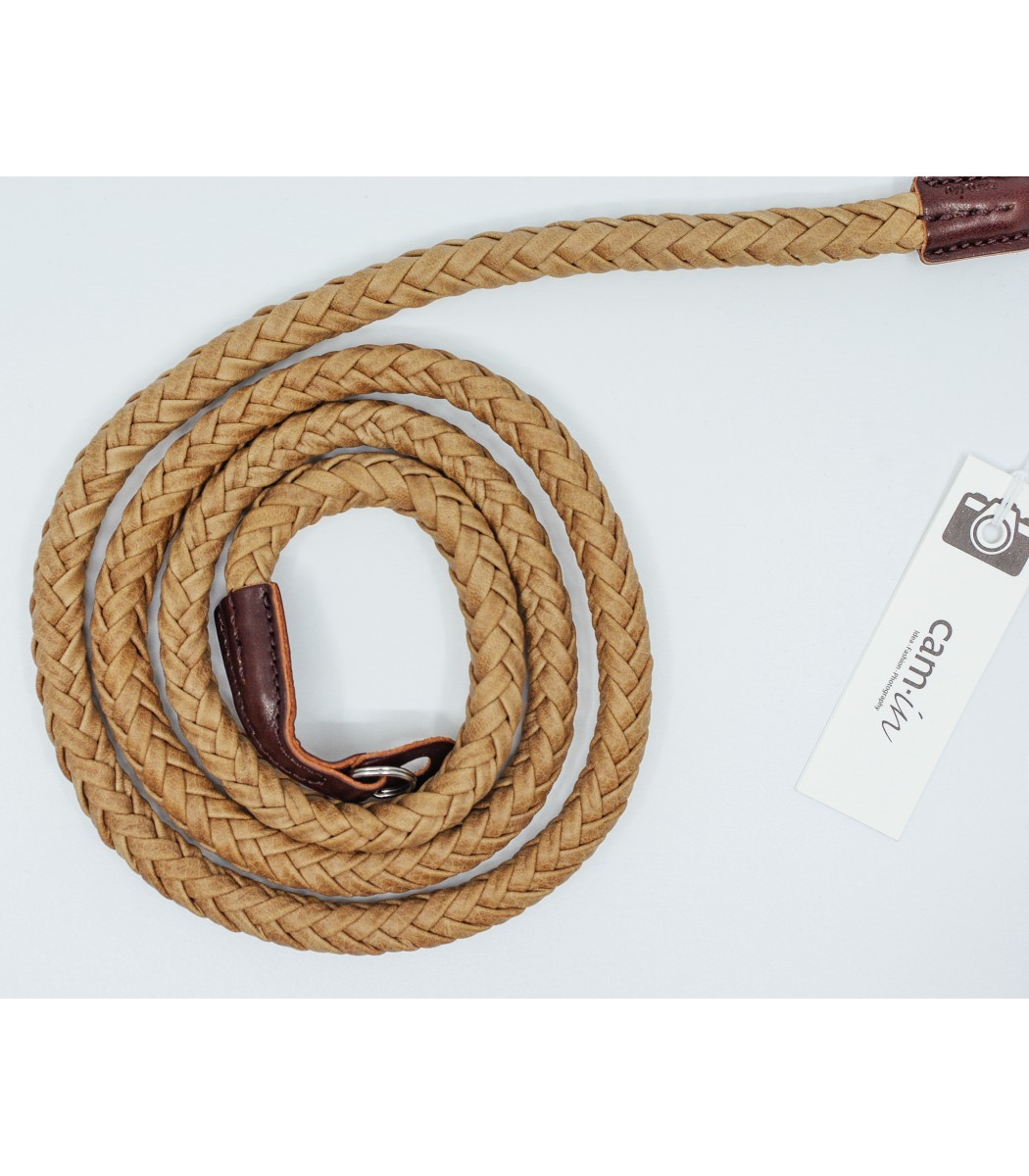 128cm Black /& Grey Woven Leather Rope Camera Strap w// Ring Connection by Cam-in