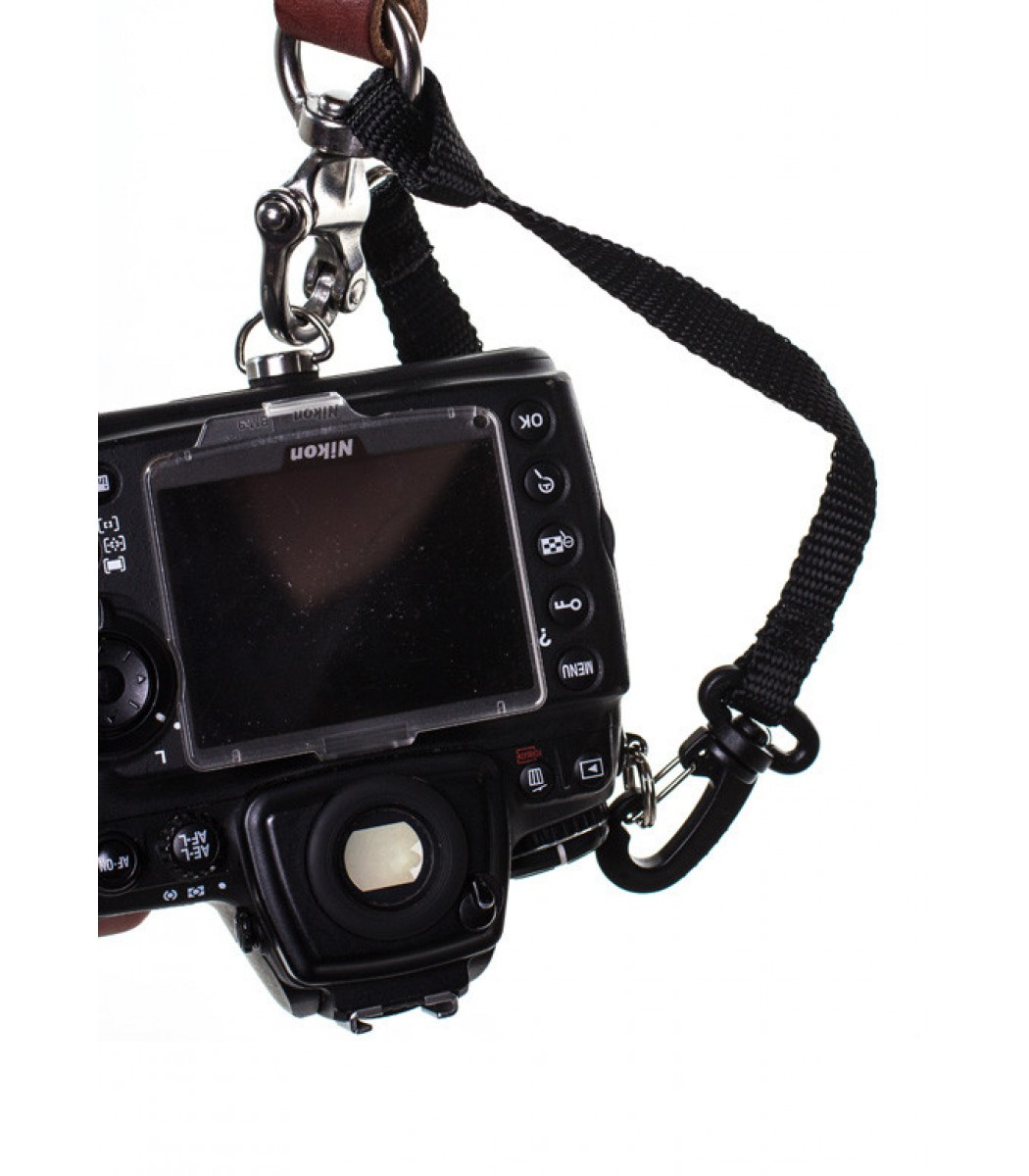 Two Camera Harness Bridle Leather Original Small, Chestnut Holdfast Gear Skinny Money Maker