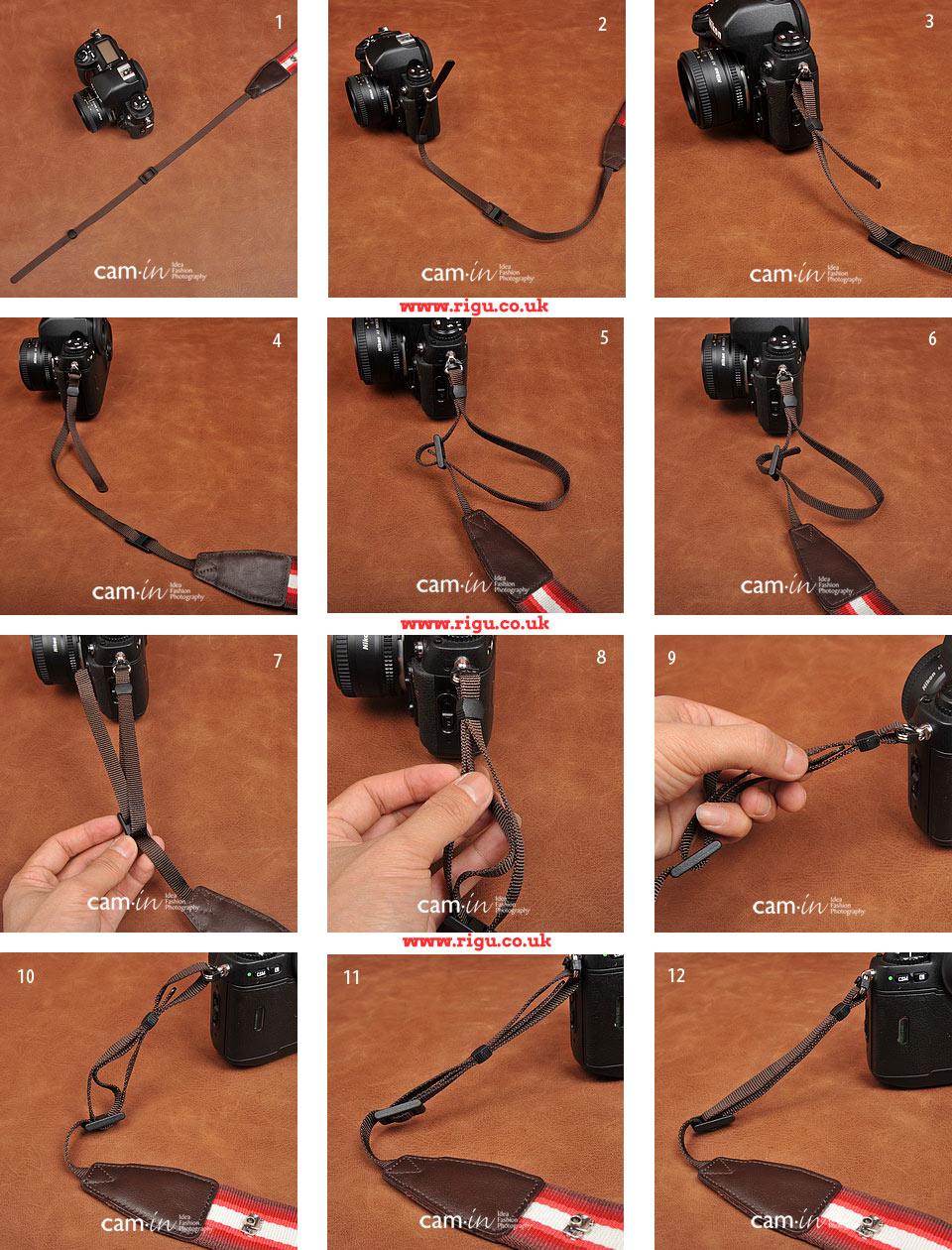 how to attach a dslr camera strap